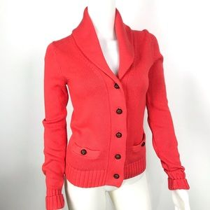 Lilly Pulitzer Cable Knit Cardigan Orange XSmall.